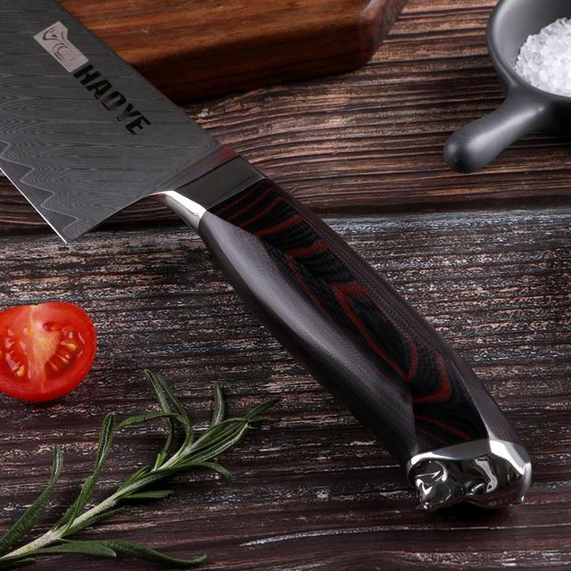 Damascus G10 Stainless Steel 8 inch Kiritsuke Chef Knife.