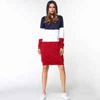 Short Dress Women Striped O Neck Casual Sexy Plus Size Dress Long Sleeve Middle East Fashion