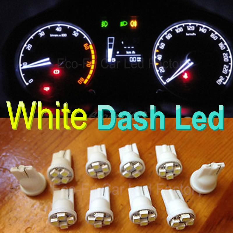 T White Car Gauge Instrument Cluster Led Light Bulbs Lamp For Ford Toyota Honda Chevrolet Mazda on Ford F250 Light Bulbs