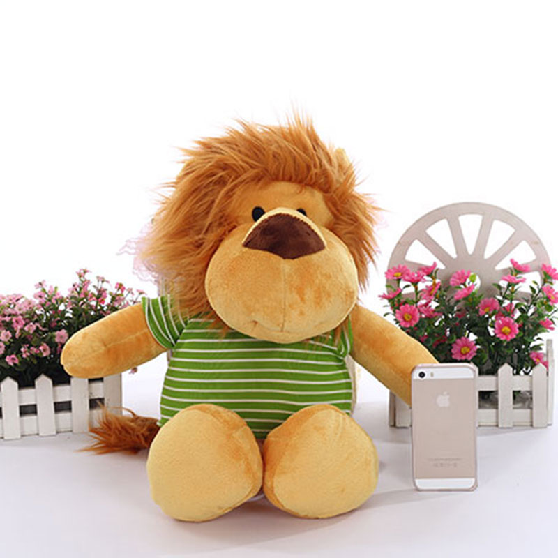 50CM Large Cuddly Lion Stuffed Animals Toys Baby Calm Dolls Children Kids Playing Doll Plush Lions with Coat plush animals black footed ferret doll stuffed children s toys simulation animal dolls rare gifts