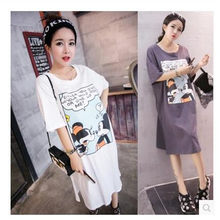 5c0989392585a 2017 New Maternity Casual Dress Summer Coat Long Paragraph Dress Loose  Summer Cotton Fashion Mother Pregnant Woman Skirt