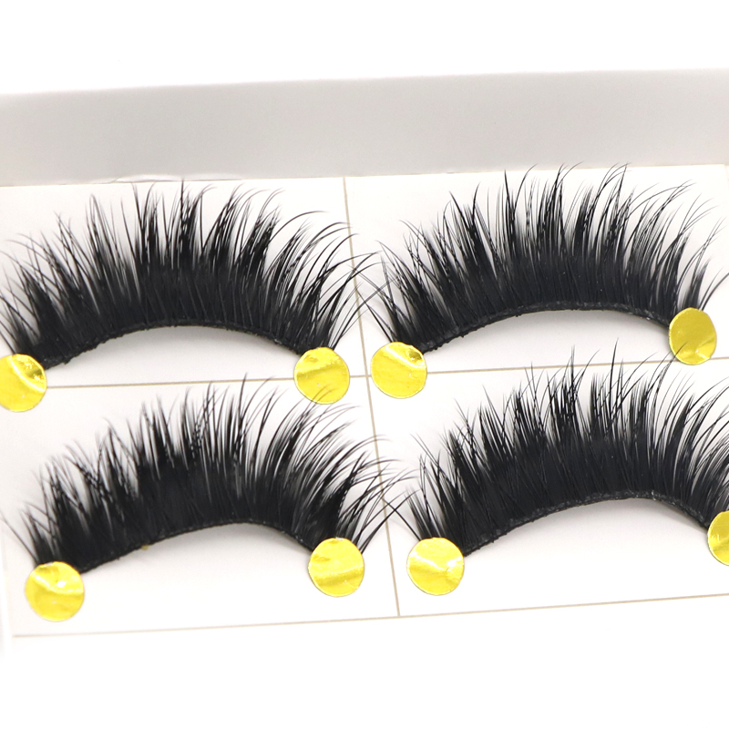 5 Pair/set Long False Eyelashes Black Cross Thick Fake Eyelashes Soft long Make up Eyela ...