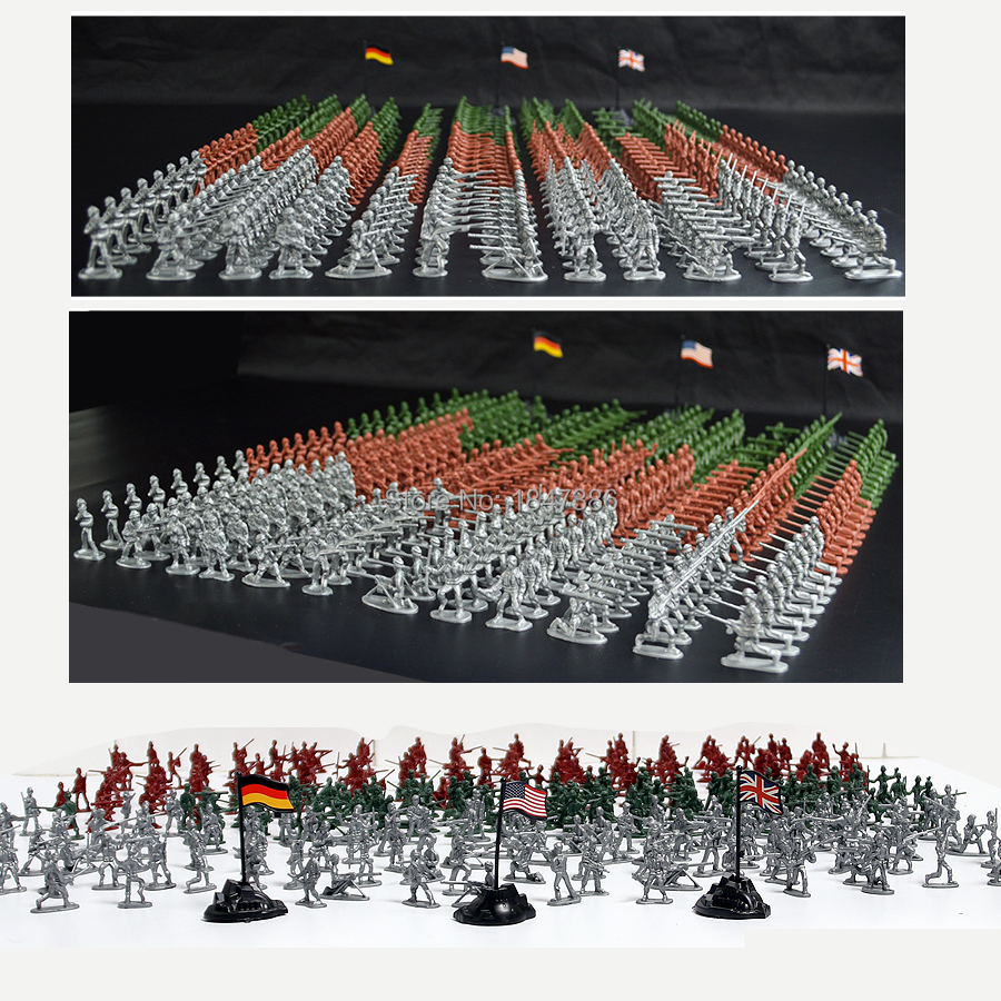12 Styles 3 Colos Model Of Action Figures Army Men Soldiers Bulk Party Favors Supplies Big Bucket Of Military Man Army Soldier