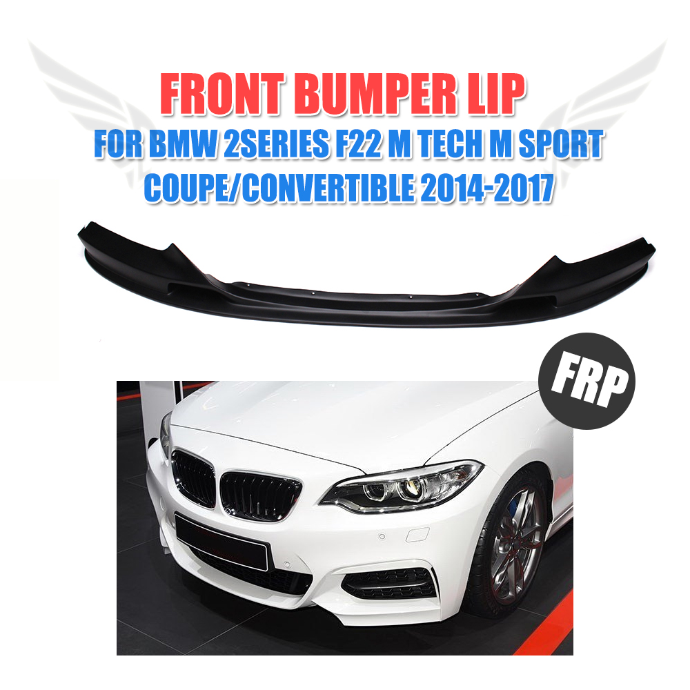 Black Front Bumper Lip Spoiler Chin for BMW 2 Series F22 M Tech M Sport Coupe Convertible 2014-2017 Car Styling
