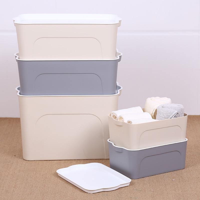 PP Desktop Storage Box Cosmetic Makeup Organizer Clothes Socks Laundry Sundries Toys Storage Box Home Office Storage Organizer