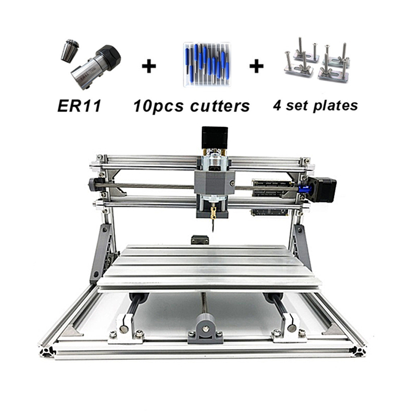 Disassembled pack diy laser mini CNC milling machine 2418 PRO CNC router can add 500MW 2500MW