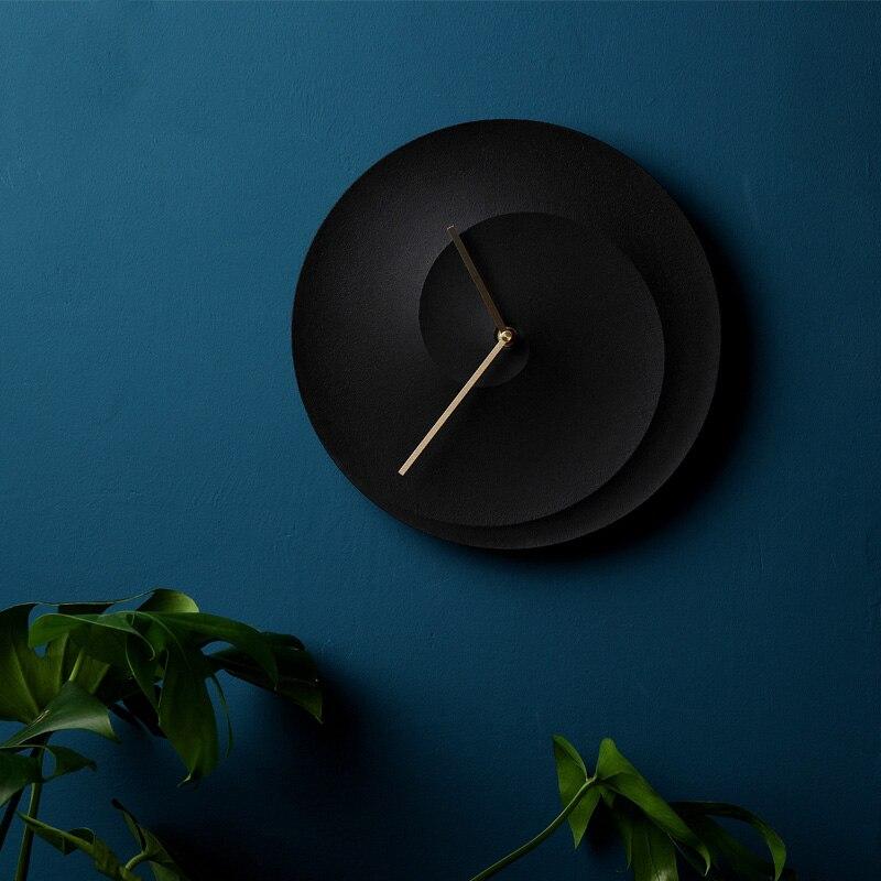 Concrete Clock Mold Bedroom Living Room Wall Hanging Clock Art Cement Clock Manual Mold