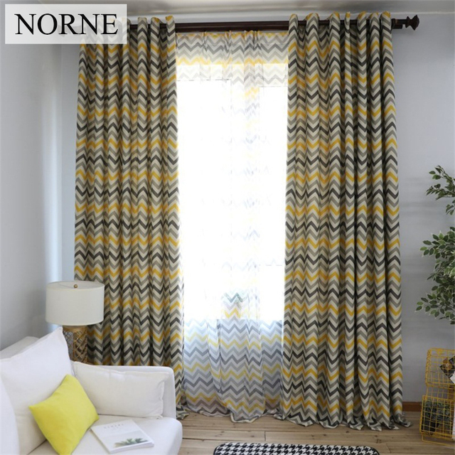 NORNE Modern Geometric Pattern Window Treatment Blackout Curtains Drapes  For Bedroom Living Room Kitchen Door Blinds