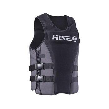 Hisea Professionl Buoyancy Life Jacket Vest With Material Neoprene for Men Women Surfing Motorboat Fishing 1