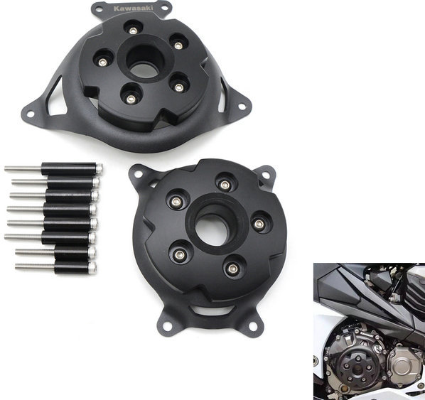 купить Motorcycle Engine Stator Cover CNC Engine Protective Cover Left & Right Side Protector For KAWASAKI Z800 2013 2014 2015 2016 недорого