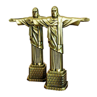 Vintage Metal Crafts Creative Crafts Decoration Catholic Gift Brazilian Jesus Image Model Figurine & Miniatures