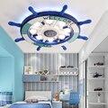 Mediterranen stil lampen Moderne Holz Led-deckenleuchte Fernbedienung Dimmbar Farbwechsel Lampe Für Wohnzimmer Schlafzimmer