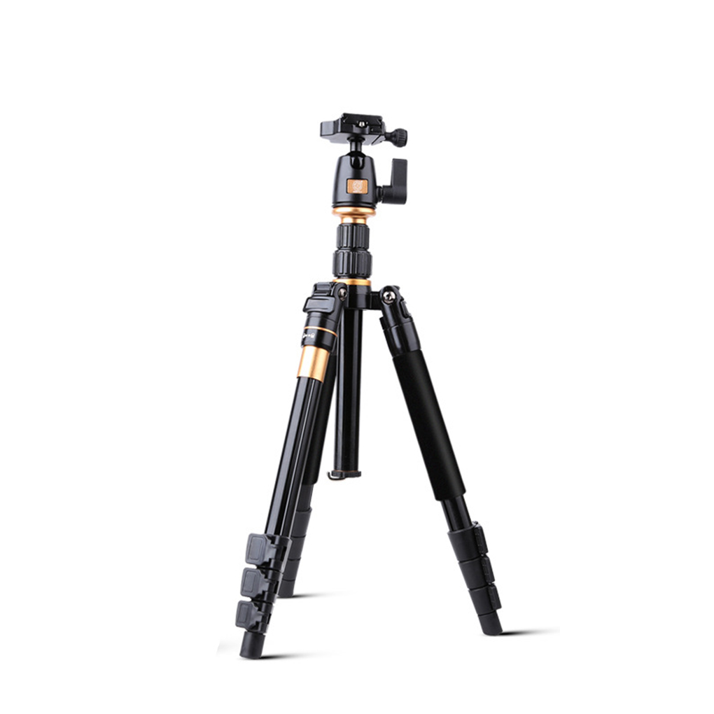 Portable Universal Q555 Professional Aluminium Alloy Tripod Monopod Digital SLR Camera Stand DSLR Camera Holder for Canon Nikon