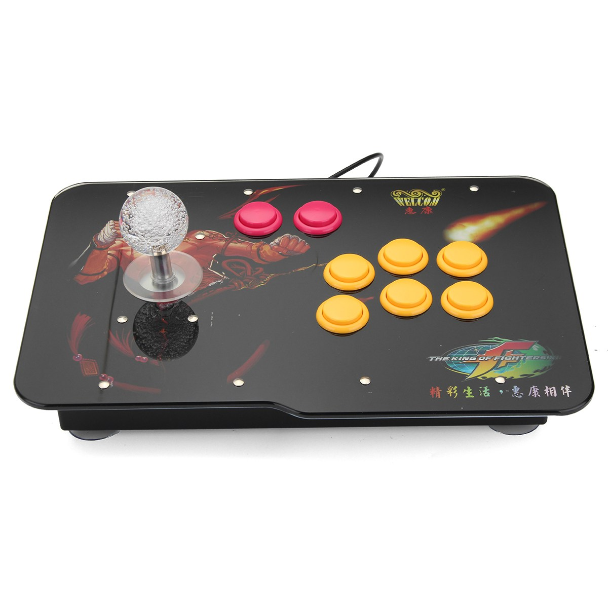 все цены на Arcade Stick Video Game With LED Light USB Joystick Controller Rocker For PC Phone Game Controller Play Street Fighting онлайн