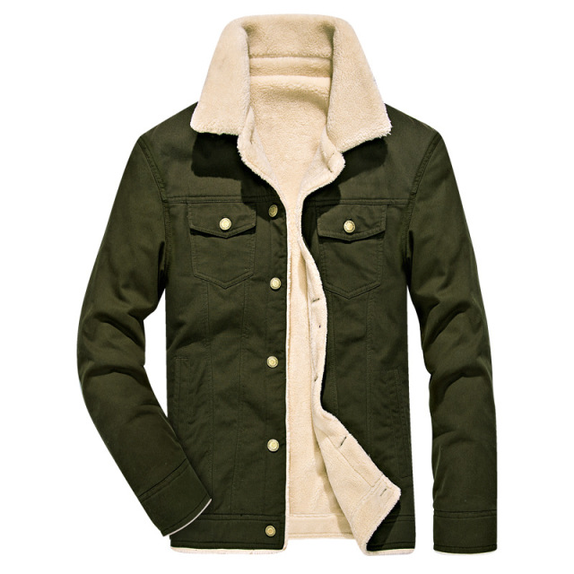 d3399a386af Winter Bomber Jacket Men Air Force Pilot Thick Warm Jackets Male Fur collar Army  Green Tactical Mens Jacket Coat Plus size 4XL
