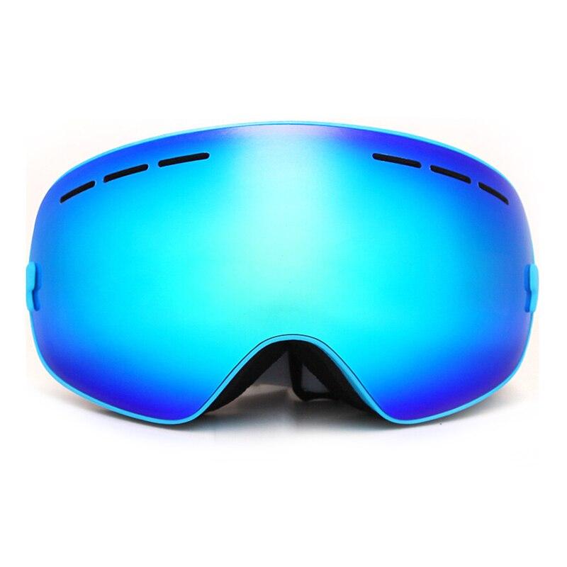 Новая распродажа Benice лыжные очки двойной слой анти-туман Глаза синяя рамка