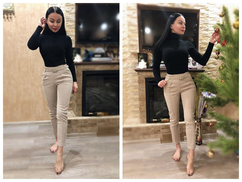 Elegant Sashes Women's Pants 18 Autumn Winter Solid High Waist Pockets Harem Pants Harajuku Fitness Office Lady Trousers Femme 5