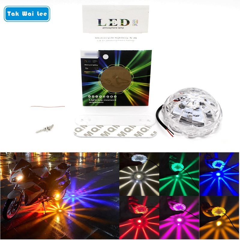 Tak Wai Lee 1Pcs LED Car Motorcycle Atmosphere Fog Lamp Flasher Strobe Warning Light Styling Multiple Mode Transformation Lamps tak wai lee 1pcs usb led mini wireless car styling interior light kit car styling source decoration atmosphere lighting 5 colors
