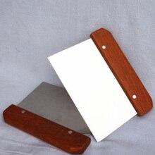 Деревянная ручка нож для мыла прямой из нержавеющей воска тесто слайсер торт воск ломтик делая провода струны резки DIY мыло делая инструменты