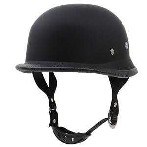 Image 3 - 도트 반 얼굴 레트로 오토바이 헬멧 레트로 헬멧 헬멧 방수 헬멧