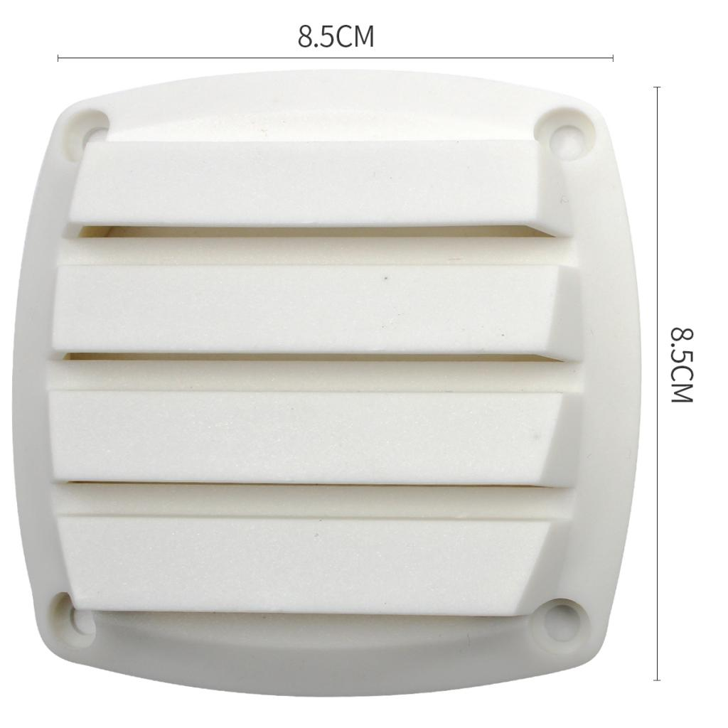 Round Plastic Marine Louvered Vents Round For 3 Inch Tube Hose White Plastic More Attractive Appearance And Greater Air Flow.