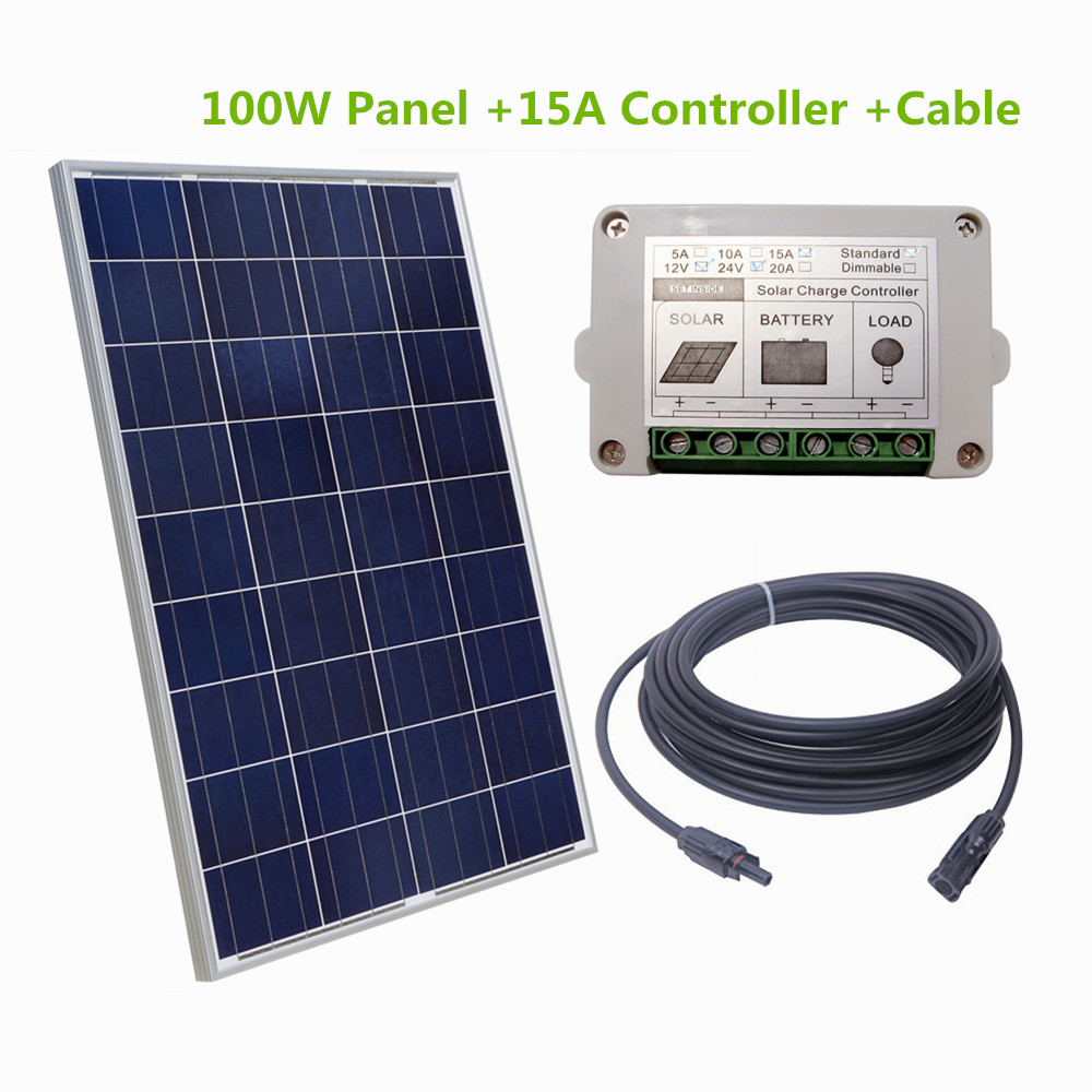DC House 100W Watt 18V Solar Panel With  2 Pair Y MC4 Solar Connectors Solar System Kits Solar Generators 10x 5w watt 2r2 2 2 ohm 5