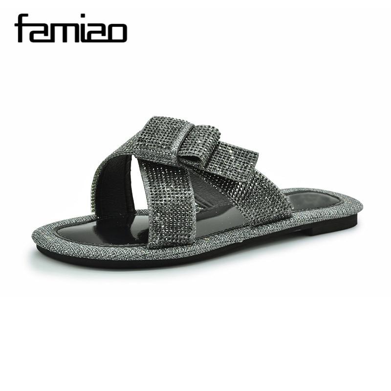 FAMIAO Mujeres Zapatillas Chanclas Sandalias Peep Toe Glitter Glitter - Zapatos de mujer