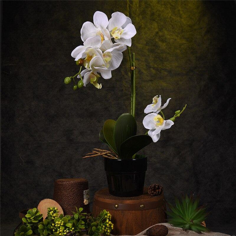 flor artificial planta en maceta bonsai mejores regalos fake butterfly orchid flores plantas boda adornos de