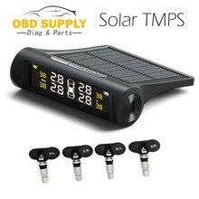 Солнечная Автомобильная TPMS Система Сброса Давления в Шинах Система Контроля Давления в Шинах Внутри Цифровой ЖК-Монитор AutoCars Система Безопасности