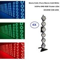 Светодиодные точечные лампочки высокое Мощность 6X100 W теплый белый/холодный белый Светодиодный ретро флэш лампы dmx этапе стирка эффект огни