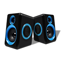 Surround Computer Speakers With Deep Bass USB Wired Powered Multimedia Speaker For PC Laptops Builtin Four
