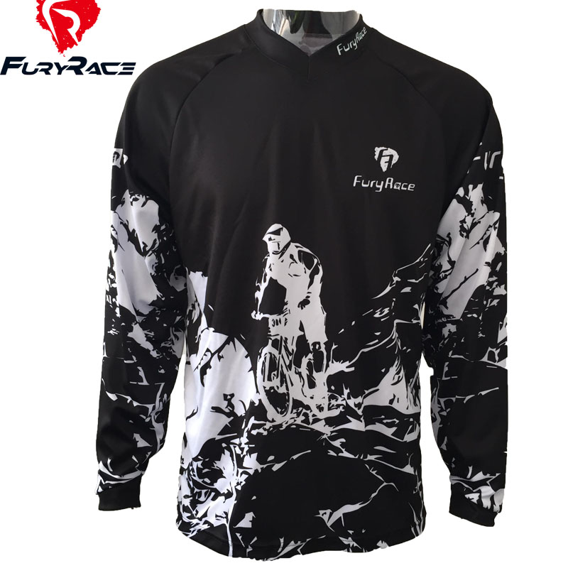 d457b2f5489 FURY RACE 2017 Men s Blue Camouflage Downhill Jerseys Mountain Bike MTB BMX  T Shirts Motorcycle DH BMX Offroad Cycling Clothing-in Cycling Jerseys from  ...