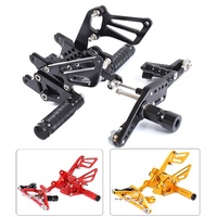 CNC Aluminum Motorcycle Adjustable Rearsets Rear Sets Foot Pegs Pedal Foot Rests For HONDA CBR1000RR CBR 1000 RR ( ABS ) 2009 15