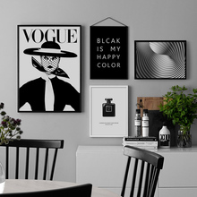 Vogue Girl Paris Perfume Black White Wall Art Canvas Painting Nordic Posters And Prints Pictures For Living Room Home Decor