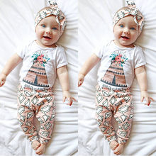 Toddler Newborn Baby Girl Floral Romper Jumpsuit Long Pant 2PCS Outfit