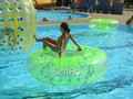 WB006 Envío gratis!!! divertidos juegos de agua inflable bolas de agua a pie de agua, bola de rodillo inflable, juegos de agua de Verano