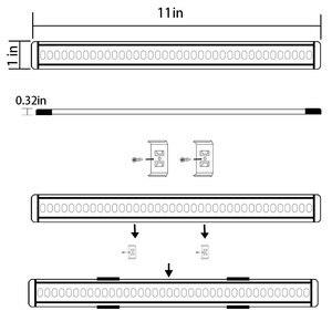 Image 3 - خزانة بار عدة جامدة LED مصباح بار مع باهتة كابينة تبديل بار أثاث مضيء إضاءة خزانة المطبخ بار (8 لوحات)