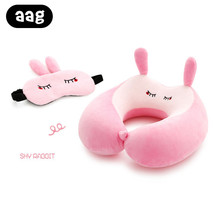 AAG Cartoon U Shaped Neck Pillow Back Cushion Car Office Airplane Support Head Rest Nap Comfortable Travel