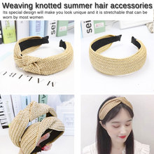 Chic Bohemian Vintage Straw  grass weaving Headband Hairband Hair Accessories