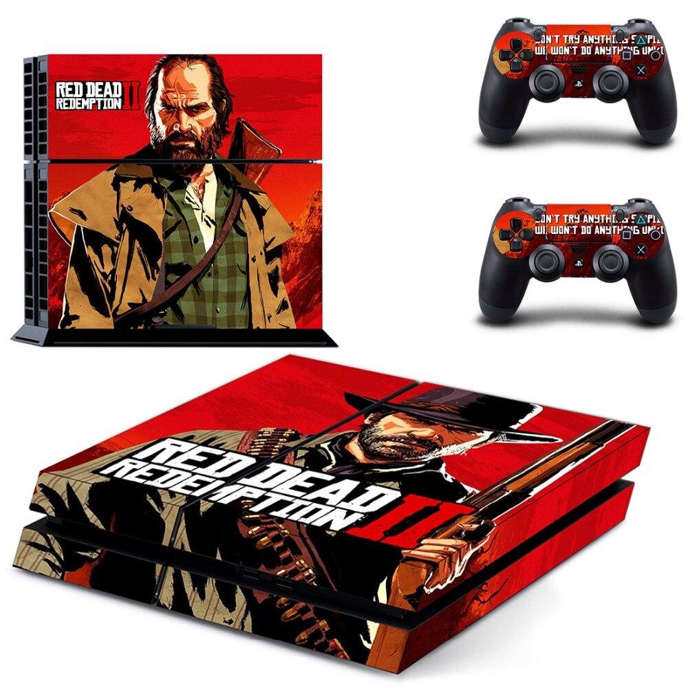 Red Dead Redemption 2 PS4 Della Decalcomania Autoadesivo Della Pelle per PlayStation 4 Console e 2 pelli di controller PS4 Adesivi In Vinile Accessorio