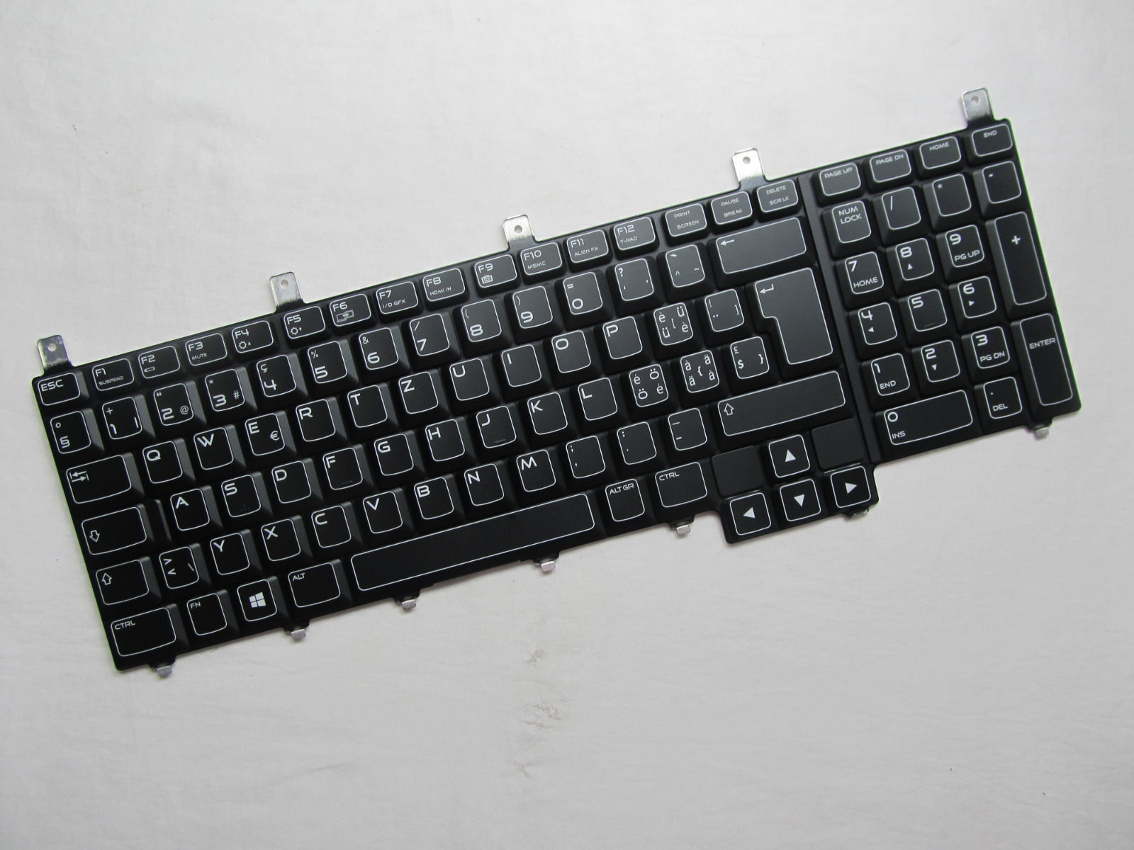 NEW For DELL Backlit Laptop Keyboard Alienware NSK-D8F01 M17X R4 M18X R1 R2 new for dell 1720 1721 vostro 1700 german gr laptop keyboard black nsk d820g 0kt273