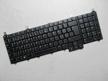 Nuevo para teclado portátil DELL con retroiluminación Alienware NSK-D8F01 M17X R4 M18X...