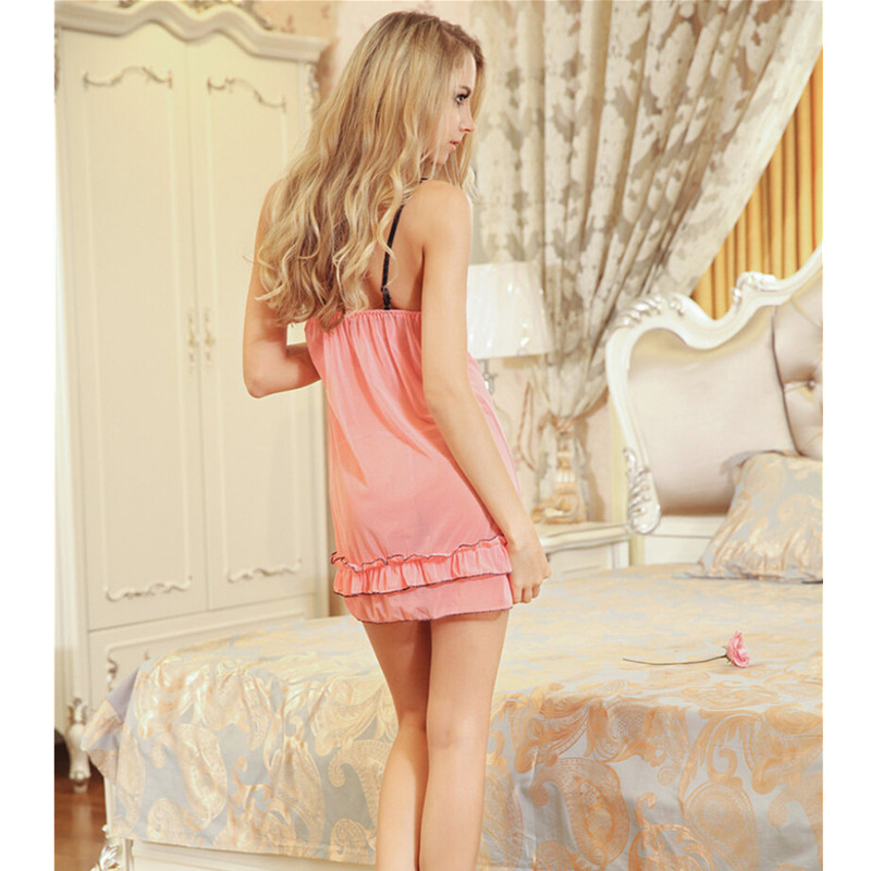 New Sexy nightdress plus size lingerie Bathrobe Faux Silk Robe Women Nightgown Dressing sexy night shirts pajamas sexy costumes
