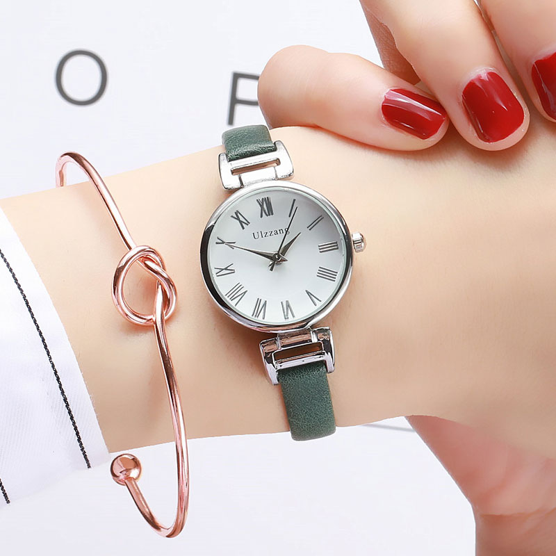 Small Dial Vintage Leather Women's Watches Luxury Casual Charm Ladies Wristwatches Simple Style Women Dress Roman Numeral Clock