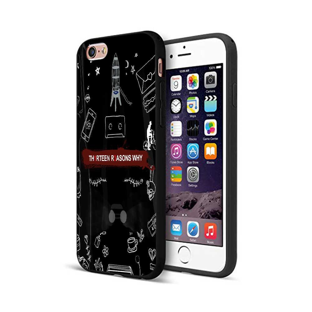 Caso di tpu nero per iphone 5 5s se 6 6s 7 8 più di x 10 della copertura del silicone per il iphone XR XS 11 pro caso di MAX 13 motivi per cui Design di Nuova
