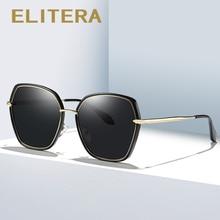 ELITERA Brand Design Mannen Vrouwen Zonnebril Gepolariseerde Fashion Zonnebril Vierkante Vintage Retro Vrouwelijke Eyewear