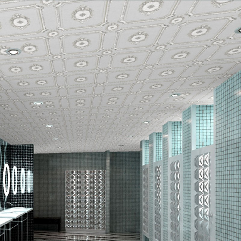 Beibehang the new american personality suspended ceiling for Ceiling wallpaper