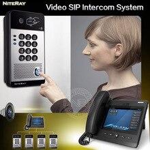 Waterproof IP door phone video intercom system with door lock release audio intercom door phone