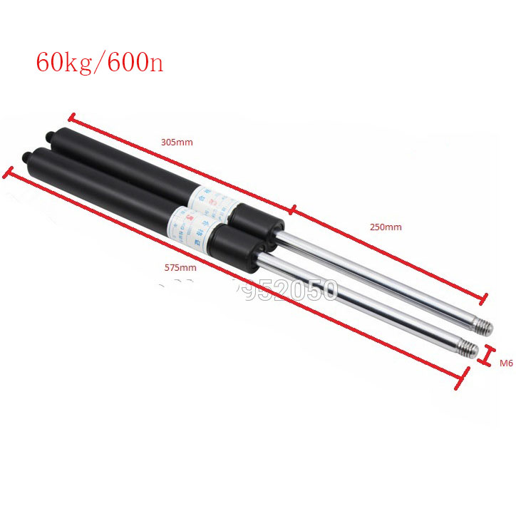 250mm Stroke 60kg/600n Force Auto Gas Spring Damper Ball Gas Strut Shock Spring Lift Prop Automotive M6 Gas Spring free shipping500mm central distance 200mm stroke 80 to 1000n force pneumatic auto gas spring lift prop gas spring damper