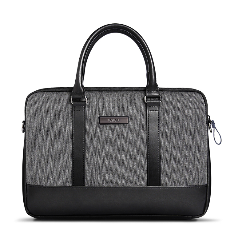Gearmax Wholesale Price High Quality Laptop Briefcase for Dell 13 14 15 Inch for MacBook Pro LEATHER black Waterproof highgrade